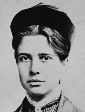 Florence Kelley as student at Cornell. From Sklar, Katherine 'Notes of Sixty Years: The Autobiography of Florence Kelley,' p. 44