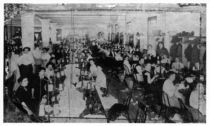 Room of workers 3. Photograph by Rubenstein. Source: UNITE HERE Archives, Kheel Center, Cornell University Date: Circa 1885