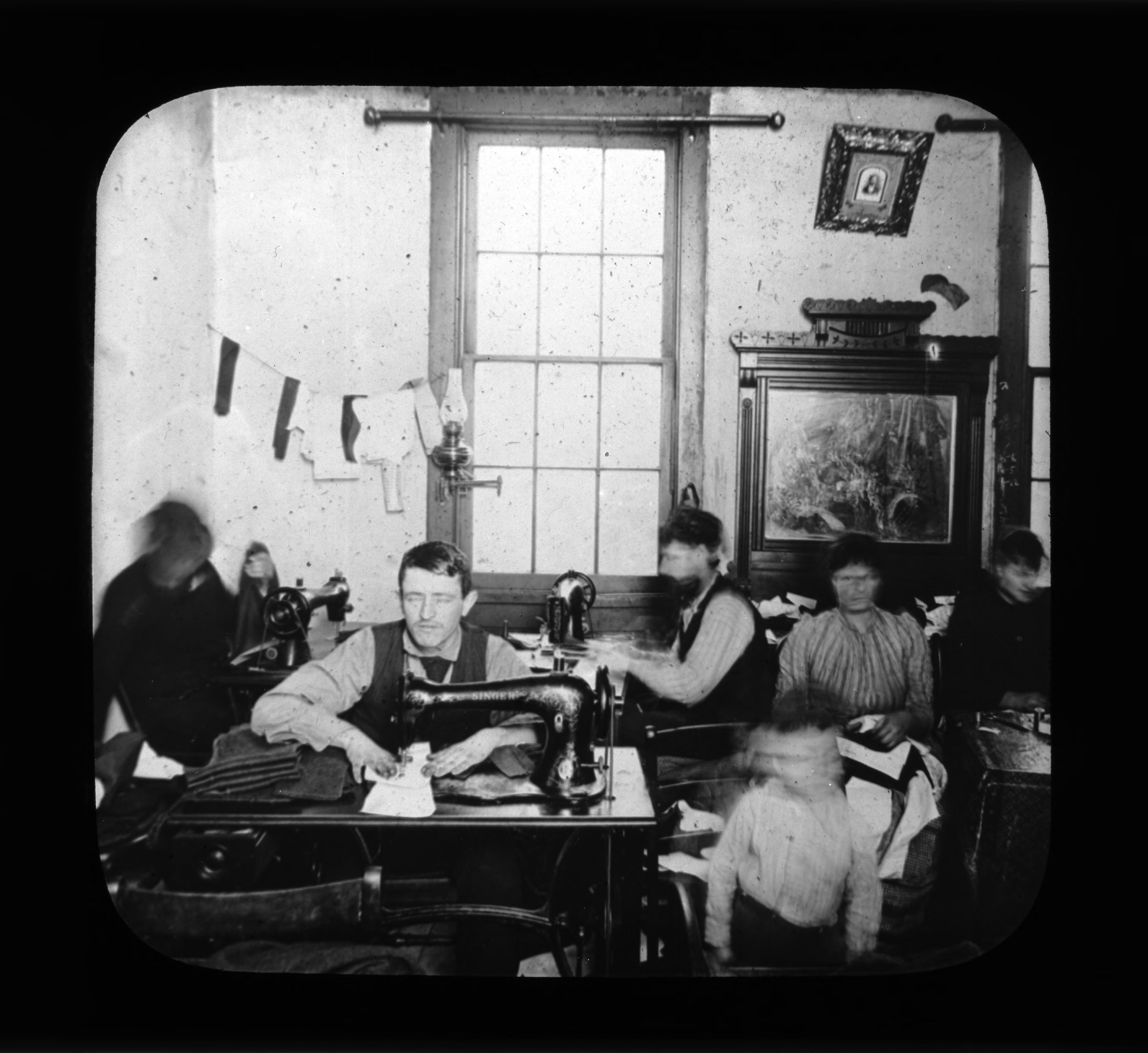 Room of workers 4. Photograph by Rubenstein. Source: UNITE HERE Archives, Kheel Center, Cornell University Date: Circa 1885