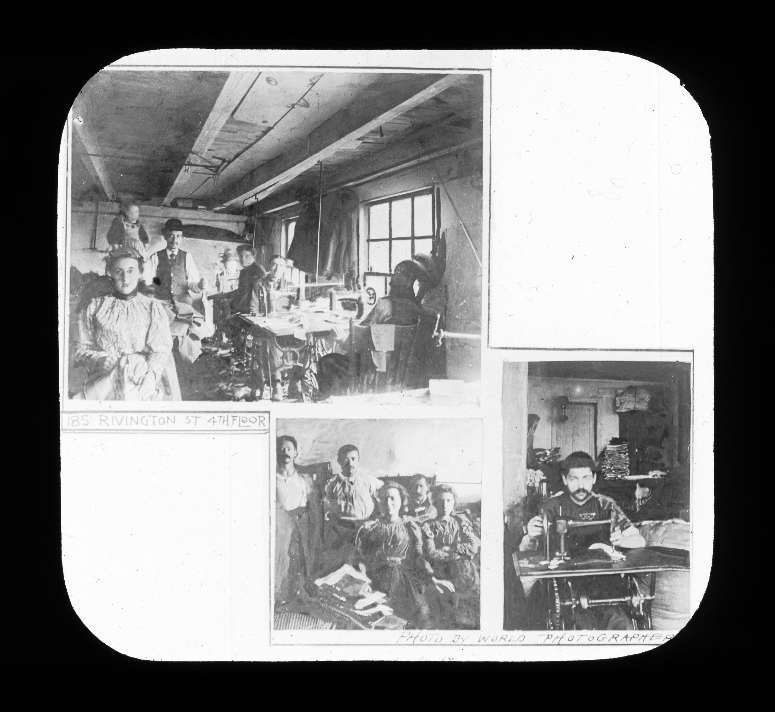 Room of workers 5. Photograph by Rubenstein. Source: UNITE HERE Archives, Kheel Center, Cornell University Date: Circa 1886