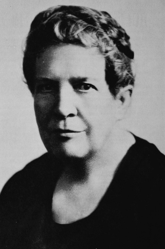 Florence Kelley circa. 1920. From Sklar, Katherine 'Notes of Sixty Years: The Autobiography of Florence Kelley,' p. 84