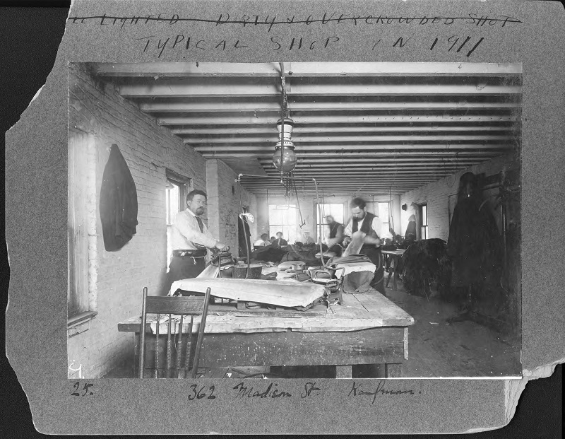 Man working. Photograph by Rubenstein Source: UNITE HERE Archives, Kheel Center, Cornell University Date: Circa 1885